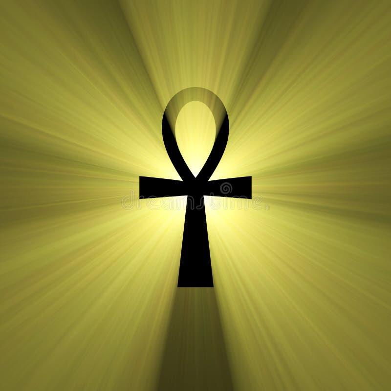 błyski światła ankh egipski symbol życia royalty ilustracja