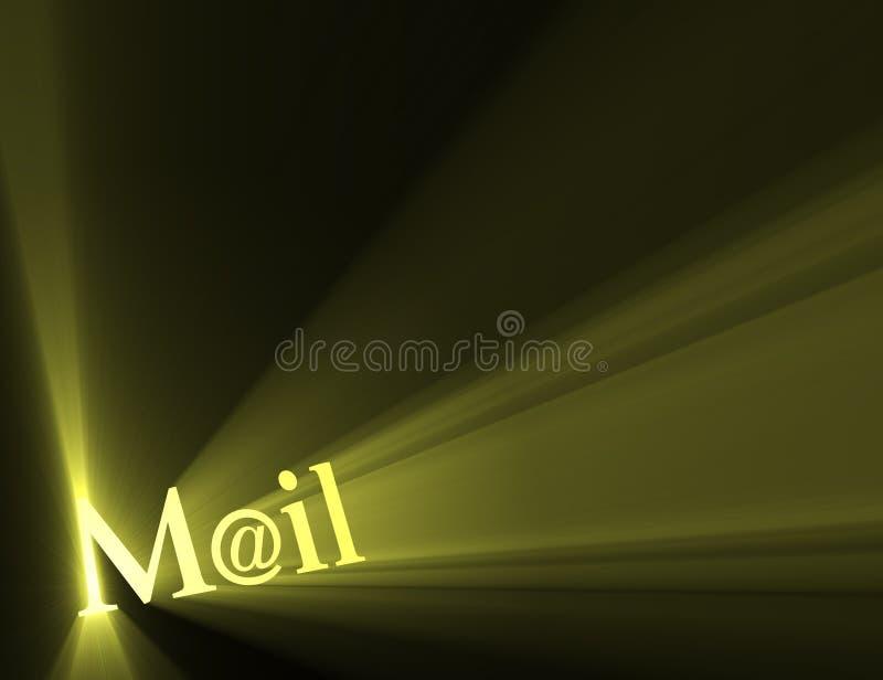 błyski światła poczty e - mail symbol ilustracji