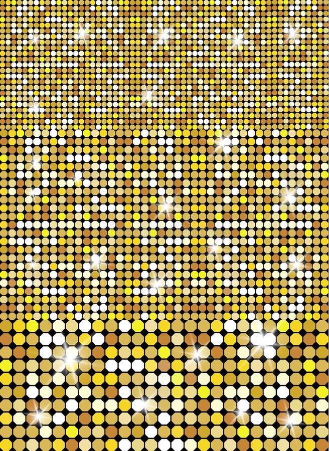Błyskotliwa Złocista tekstura dla twój projekta Kamienny półkowy brukowanie wzór Geometryczny bezszwowy wektoru wzór royalty ilustracja