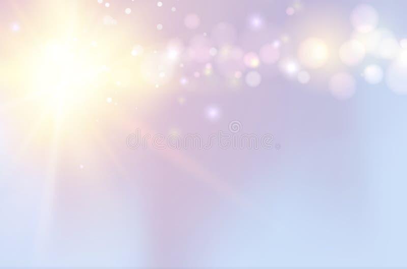 Błyskotliwość rocznika światła ilustracja wektor