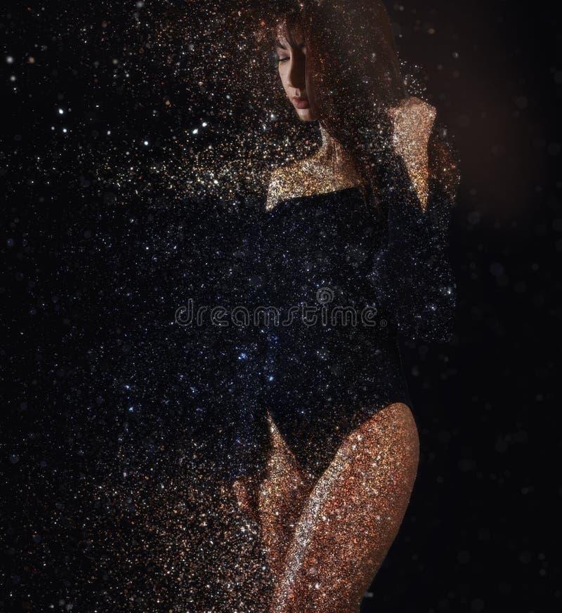Błyskotliwość skutki - dyspersja piękna kobieta fotografia royalty free