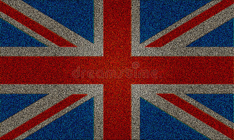Błyskotliwości Skutka Zrzeszeniowa Jack UK Flaga Obraz Stock
