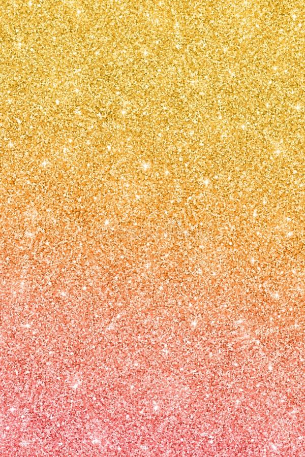 Błyskotliwości tło z złoto menchii koloru skutkiem royalty ilustracja
