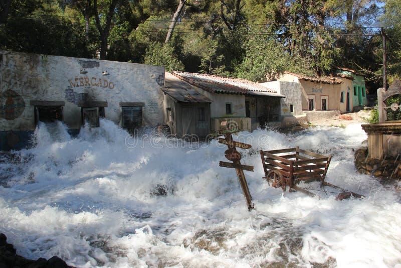 Błyskowa powódź przy universal studio Hollywood obraz stock