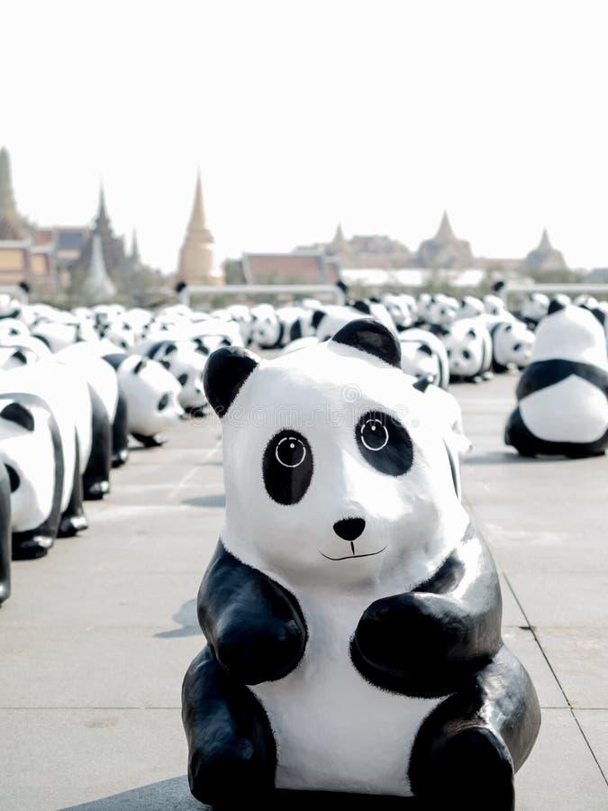 Błyskowy motłoch 1600 pand zdjęcie royalty free