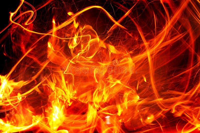 Błyskowy ogień royalty ilustracja