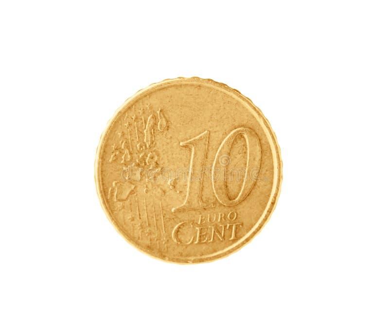 Błyszcząca euro centu moneta zdjęcie stock