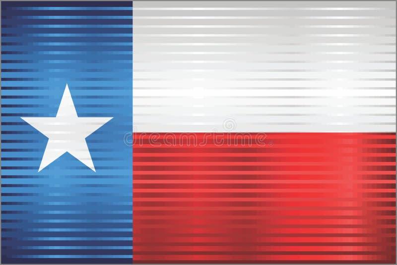 Błyszcząca Grunge flaga Teksas royalty ilustracja
