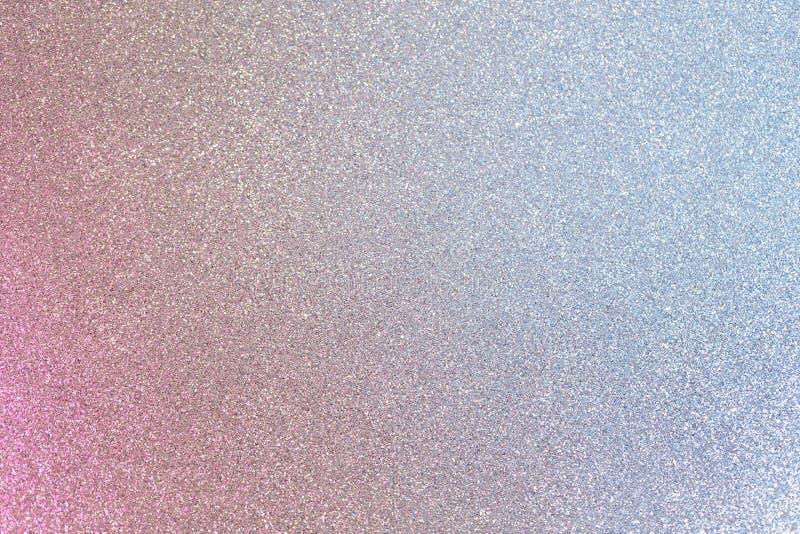 Błyszcząca menchii i błękita srebra błyskotliwość zdjęcia stock