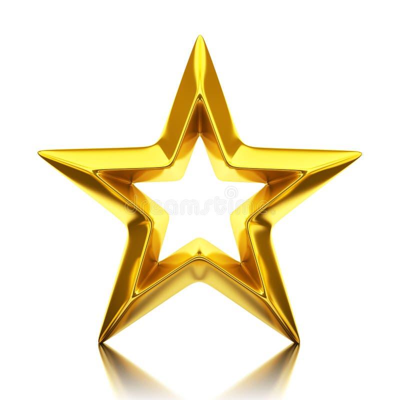 Błyszcząca złota gwiazda royalty ilustracja