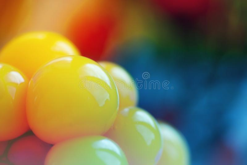 Błyszczące żółte sfery obrazy royalty free
