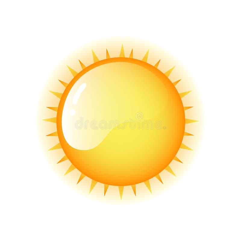 Błyszczącego pomarańczowego koloru żółtego koloru lata gorący słońce ilustracji
