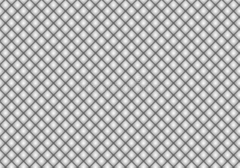 Błyszczącej glansowanej szarej mozaiki bezszwowy tło Abstrakcjonistyczna geometryczna diamentu stylu tekstura dla projekta, okład royalty ilustracja