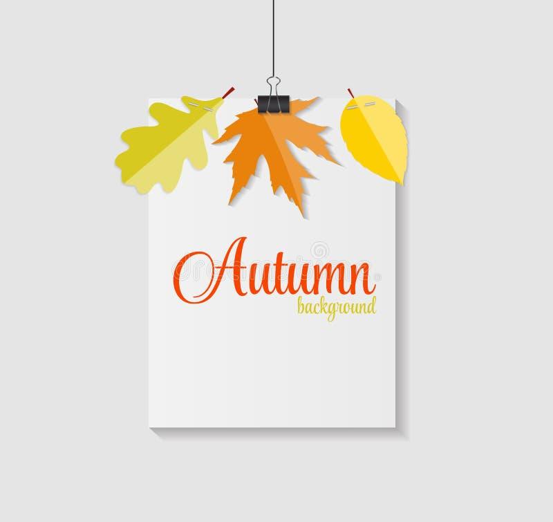 Błyszczącej jesieni liści Naturalny tło wektor ilustracja wektor