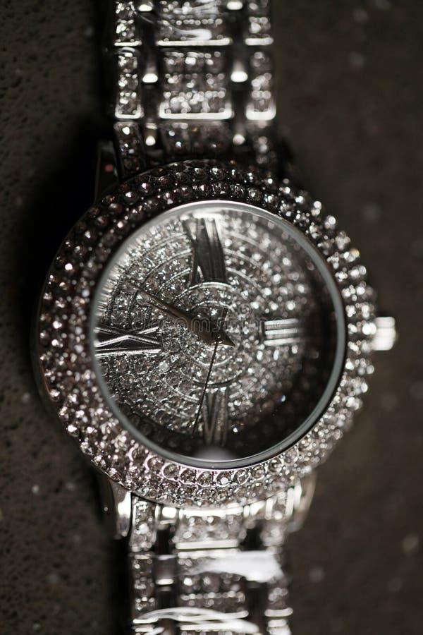 Błyszczący dama zegarek obraz stock