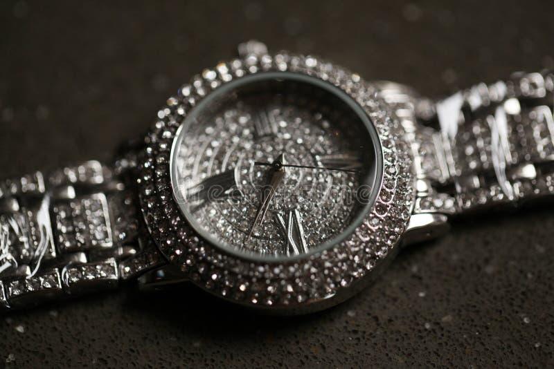 Błyszczący dama zegarek zdjęcie stock
