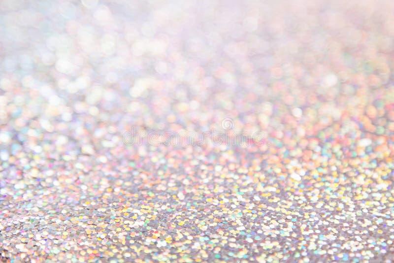 Błyszczący delikatny stubarwny holograficzny tło obraz royalty free