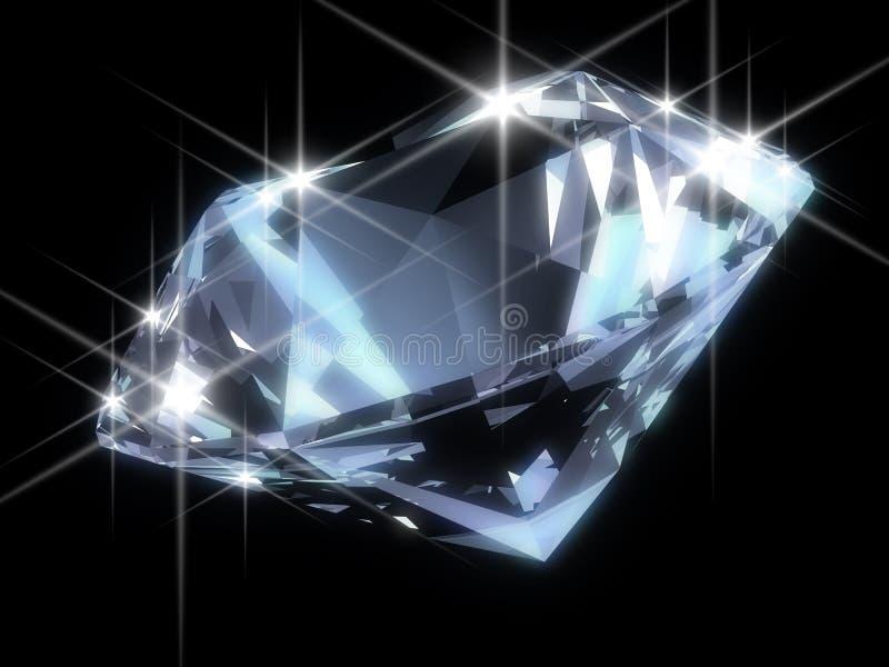 błyszczący diament ilustracji