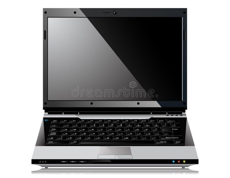 błyszczący laptopu wektor ilustracji