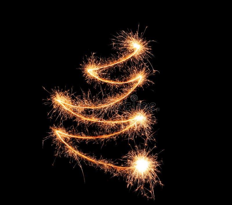 Błyszczący linie robić sparklers na ciemnym tle obrazy royalty free