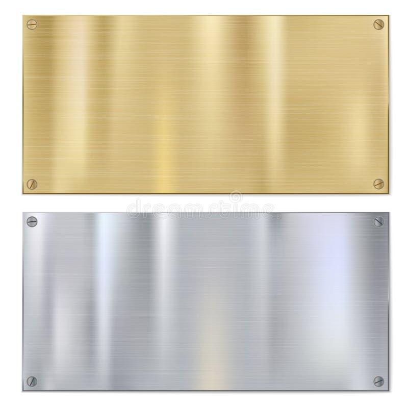 Błyszczący oczyszczony metal ilustracja wektor