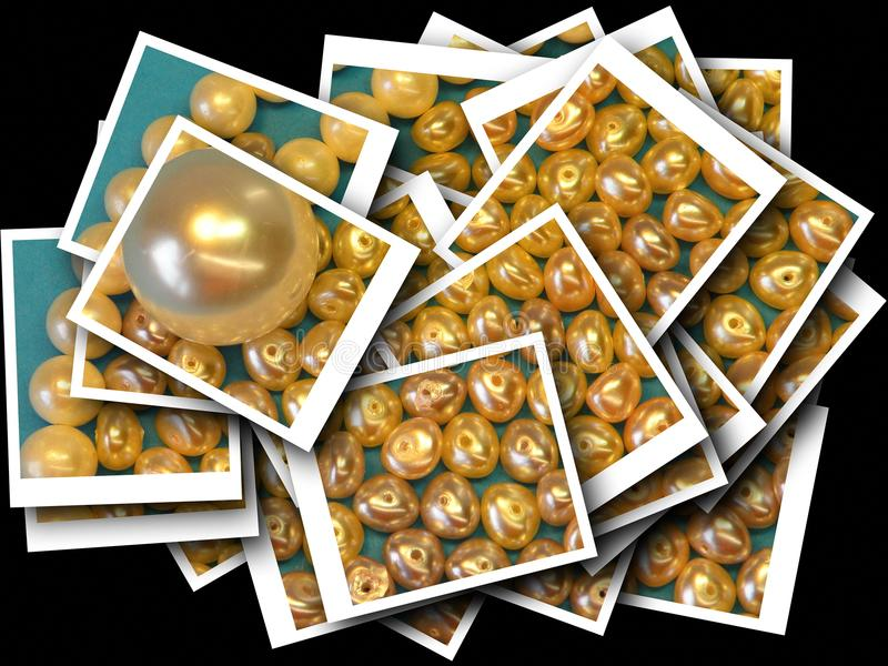 Błyszczący perła koraliki abstrakcjonistycznych obraz stock