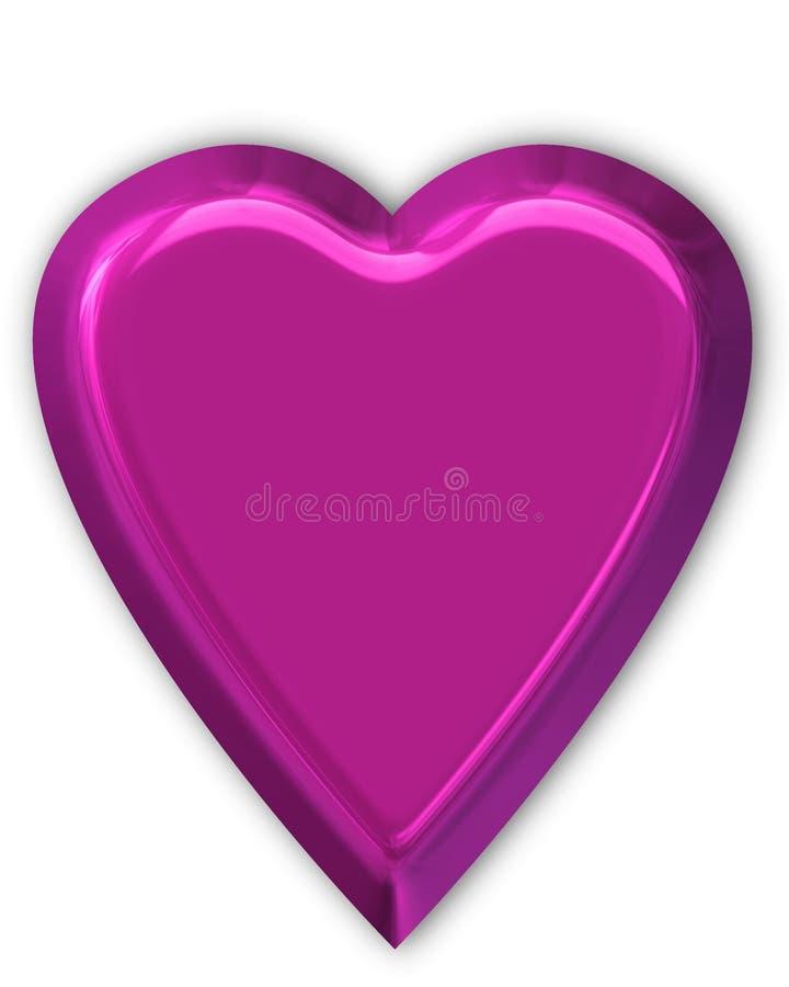 błyszczący purpurowe serce royalty ilustracja