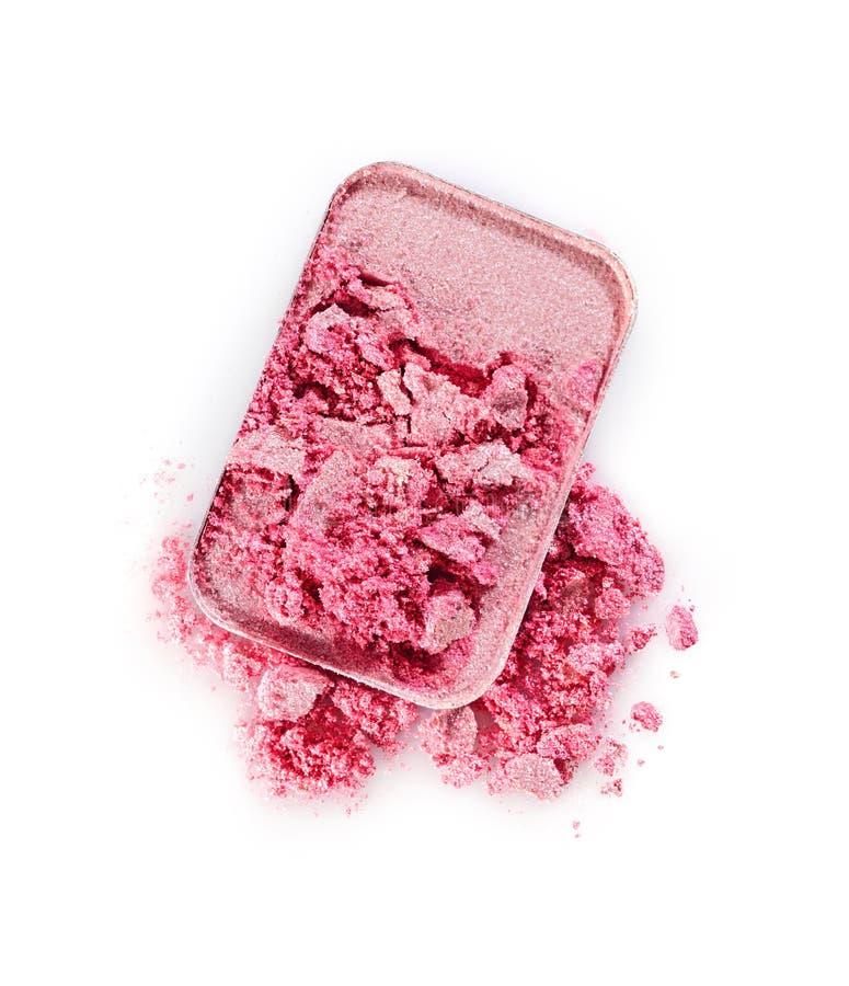 Błyszczący różowy zdruzgotany eyeshadow dla uzupełniał jak próbka kosmetyk obrazy royalty free