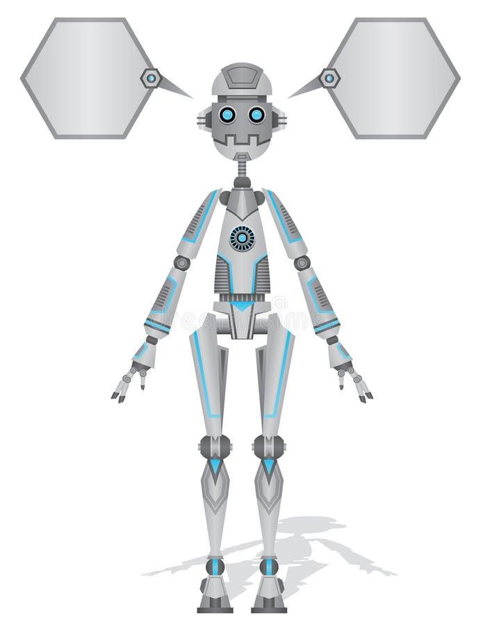 Błyszczący robot ilustracja wektor