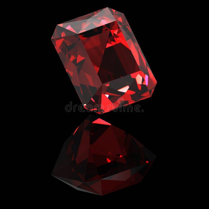 Błyszczący rubin zdjęcie royalty free