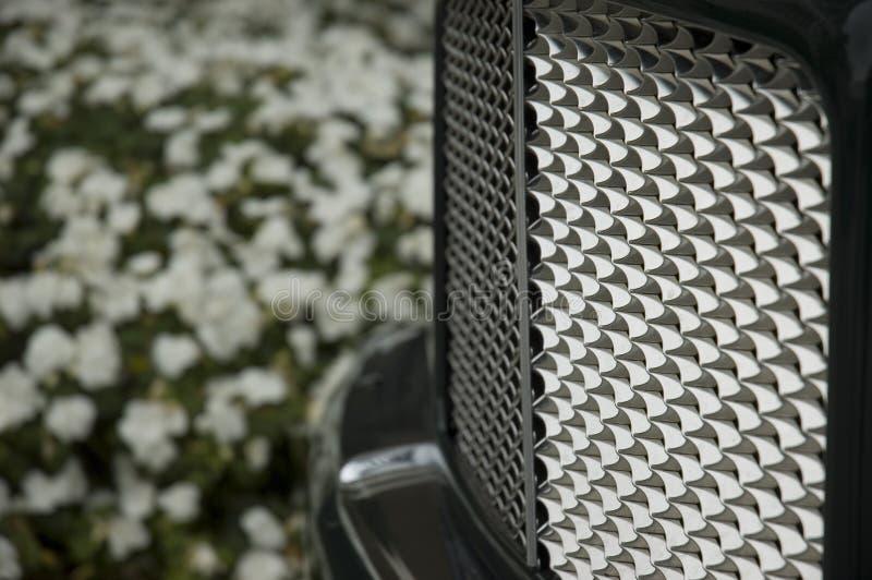 błyszczący samochód grill obrazy stock