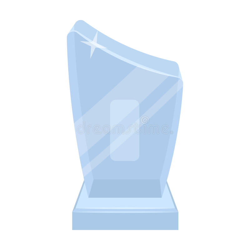 Błyszczący siwieje nagrodę Nagroda dla najlepszy występu wiersz Nagrody i trofea przerzedżą ikonę w kreskówka stylu wektorze ilustracja wektor