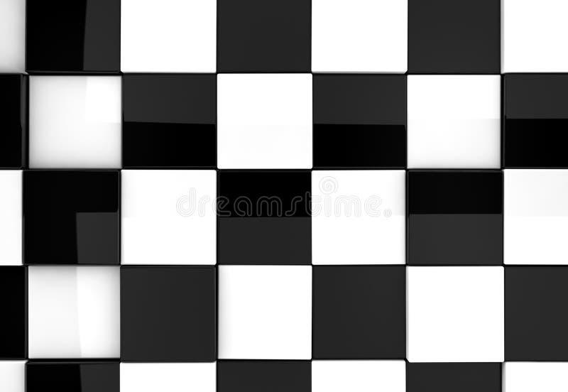 Błyszczący szachowy tło ilustracja wektor