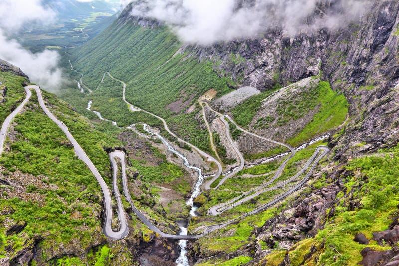 Błyszczki droga, Norwegia obraz stock