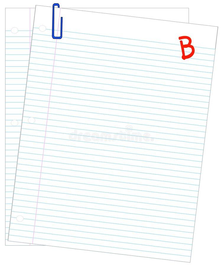 b分级了被排行的纸张 皇族释放例证