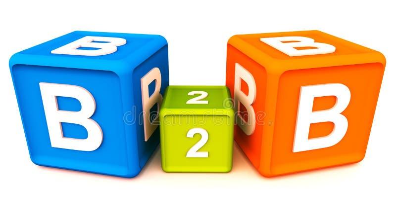 B到b 向量例证