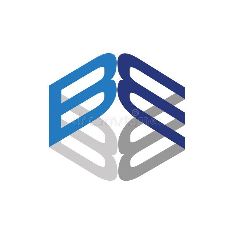 B - Символ письма коробки корпоративный абстрактный бесплатная иллюстрация