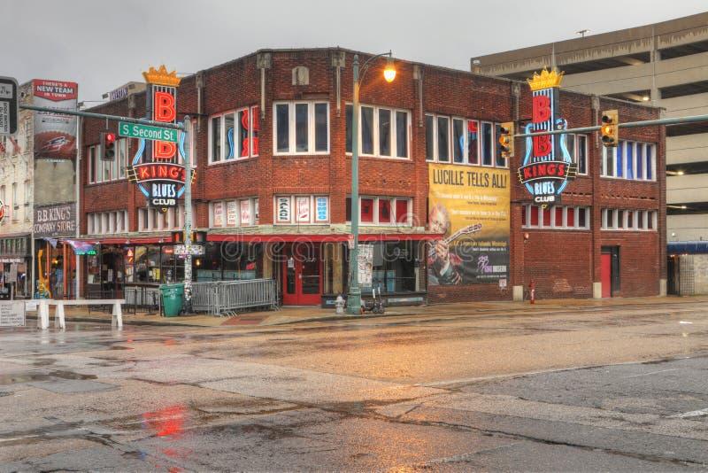B B Сини Клуба короля в Мемфисе, Теннесси стоковая фотография rf