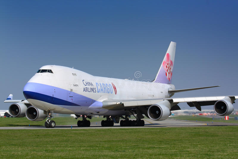 B747 φορτίο αερογραμμών της Κίνας στοκ εικόνα με δικαίωμα ελεύθερης χρήσης