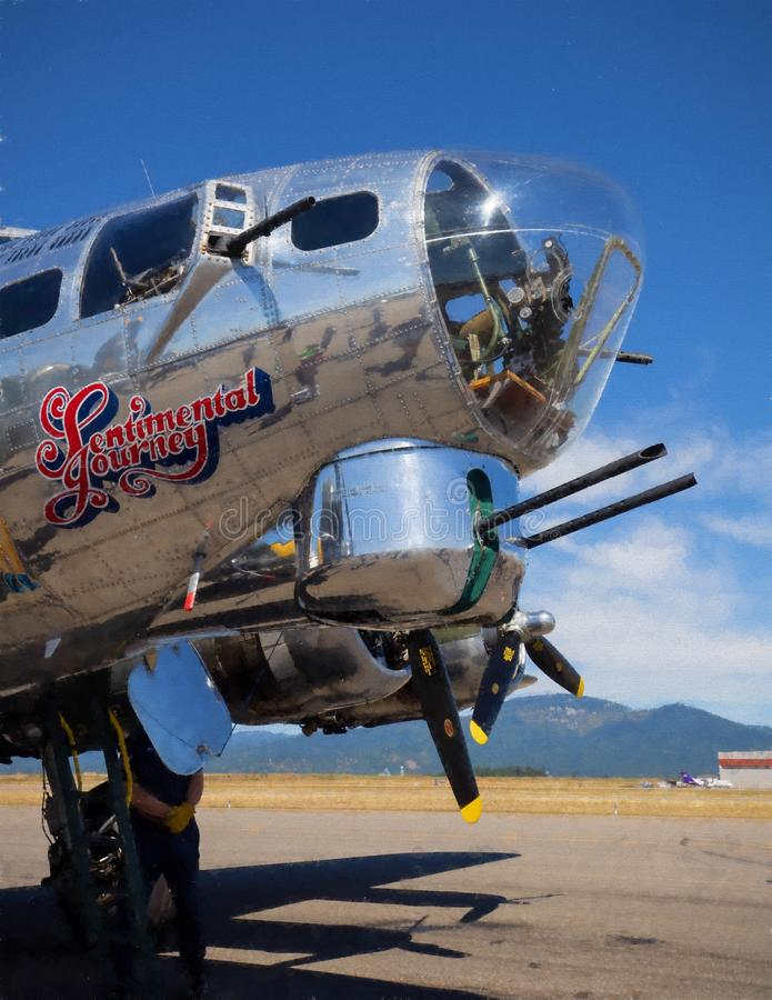 B-17飞行堡垒炮塔 免版税库存照片