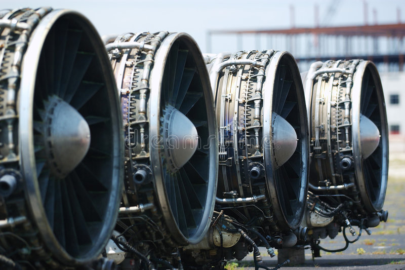 B-1 Lancer Engines stock images