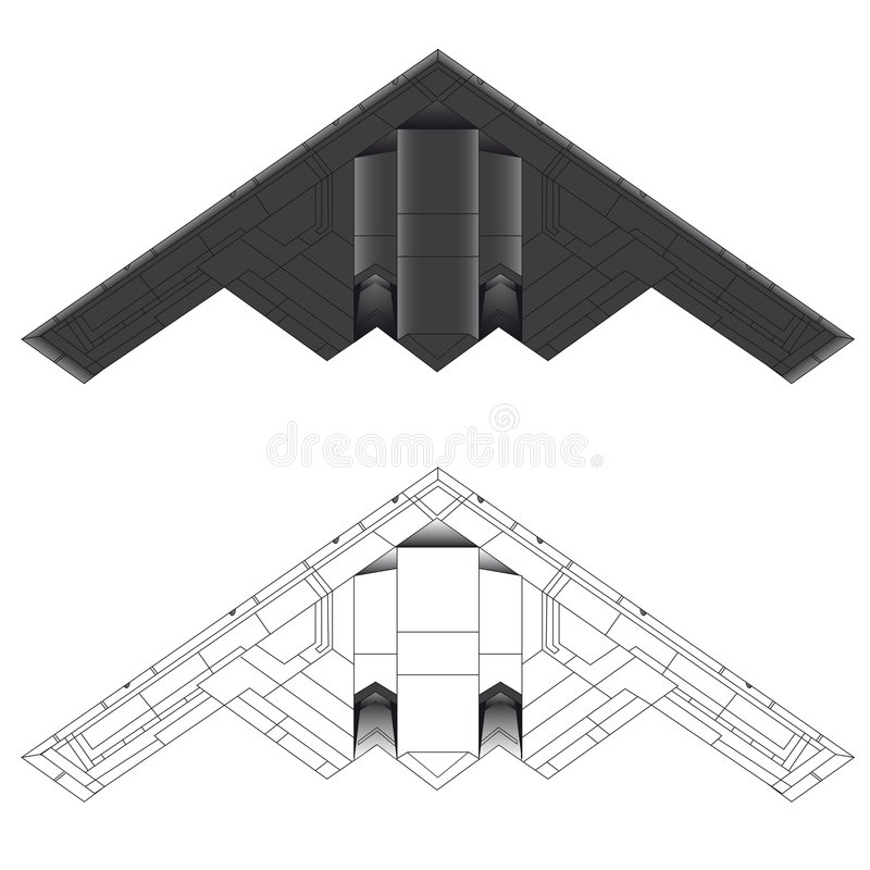 Free B-2 Stealth Bomber Vector Illustration Stock Photography - 8125852