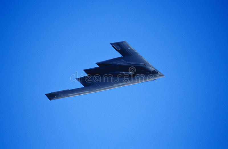B-2A Stealth Bomber. B-2A Spirit of New York Stealth Bomber royalty free stock photos