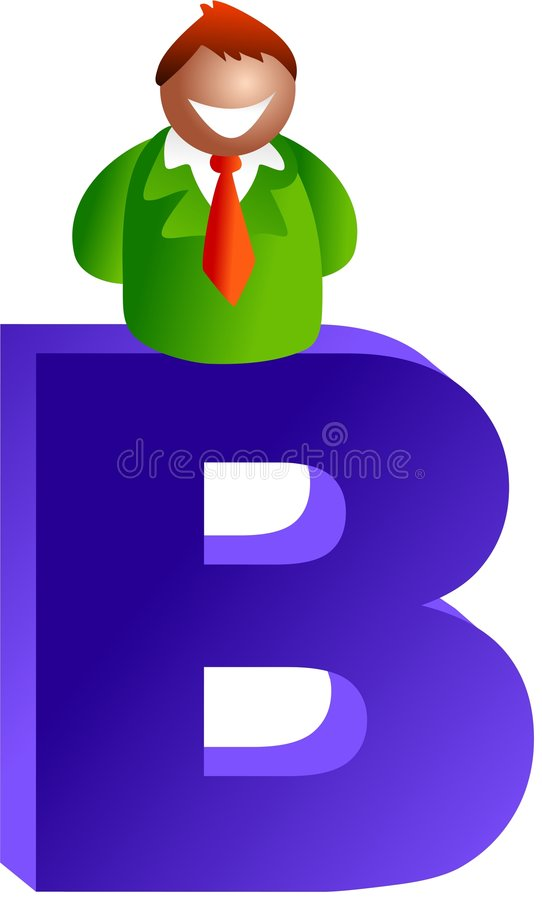 B is for royalty free illustration