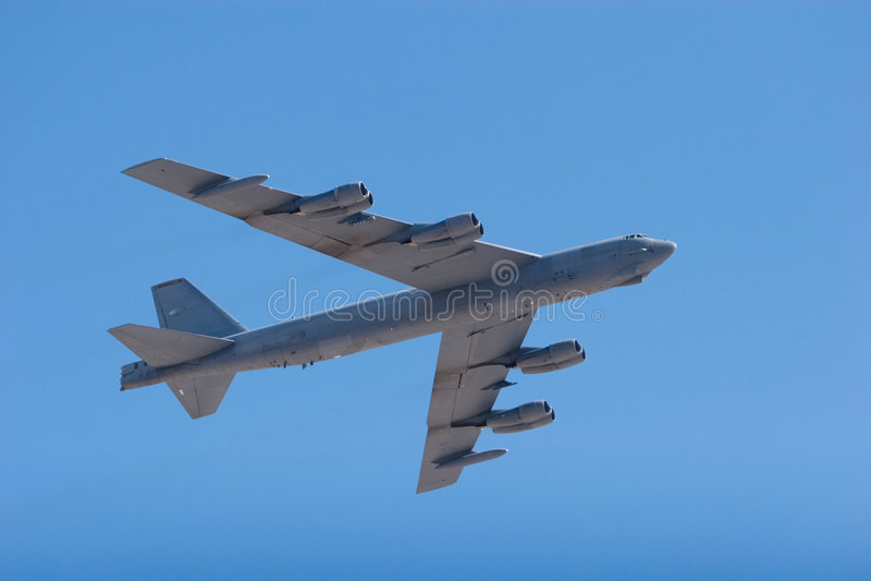B-52 bomber jet royalty free stock photography