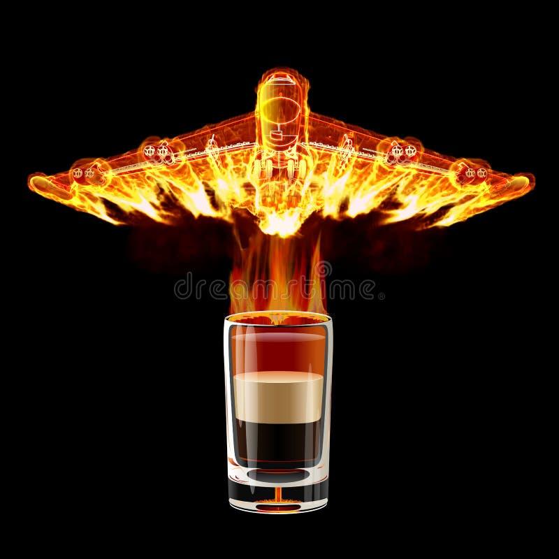 B-52 ontsproten cocktail vector illustratie