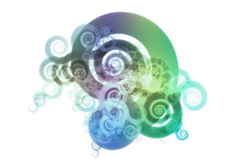 b abstrakcjonistycznej koloru projektu związki niebieskie pochylenia zielone royalty ilustracja