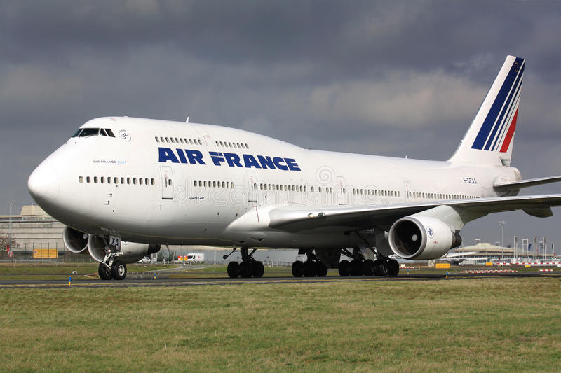 B747 Air France stock afbeelding