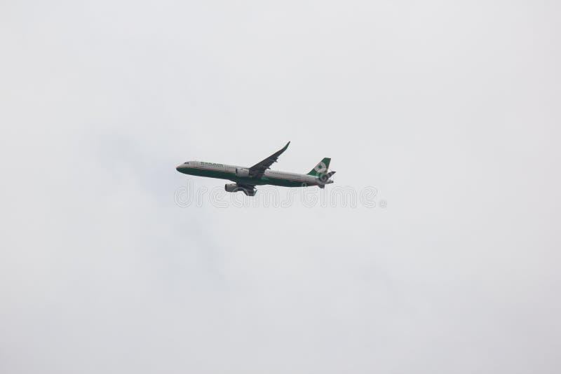 B-16208 Airbus A321 d'EvaAir image libre de droits