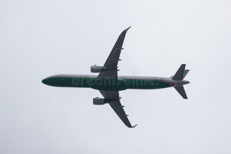 B-16219 Airbus A321 de EvaAir foto de stock royalty free